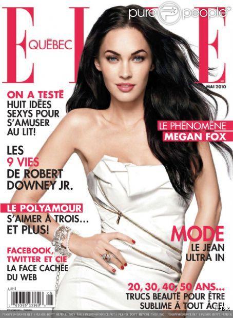 Megan Fox en couverture du magazine ELLE Québec