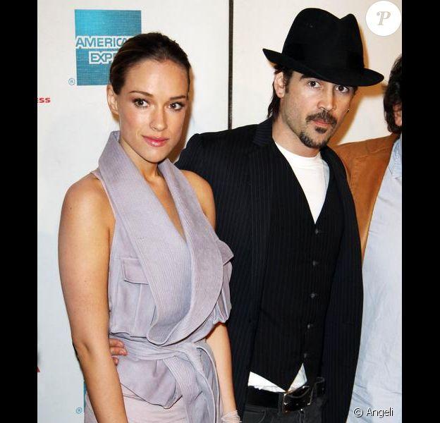 Colin Farrell et Alicja Bachleda-Curus lors de la projection du film Ondine durant le festival de Tribeca à New York le 28 avril 2010