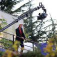 Arnaud Lemaire, sur le tournage de l'émission  L'Amour est aveugle , qu'il anime chaque vendredi soir à 22h15 sur TF1.