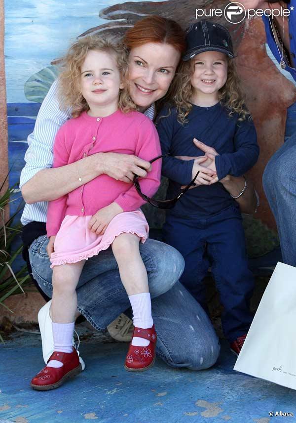 Marcia Cross, son mari Tom Mahoney et leurs jumelles