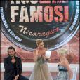 Ivana Trump et son ex-mari Rossano, sur le plateau de l'émission L'Isola dei Famosi, le 5 mai 2010.