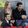 Luis Figo et sa femme Helen assistent à la rencontre opposant Rafael Nadal à l'Ukrainien Dolgopolov, le 12 mai 2010 lors du tournoi de Madrid
