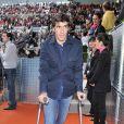 Raul assiste à la rencontre opposant Rafael Nadal à l'Ukrainien Dolgopolov, le 12 mai 2010 lors du tournoi de Madrid