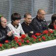 Les célébrités arrivent au match de nadal à Madrid le 12 mai 2010