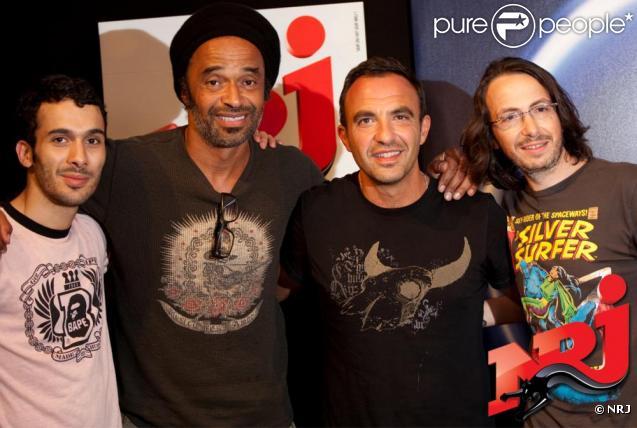 Yannick Noah entouré de Nikos, Florian et Mustapha.