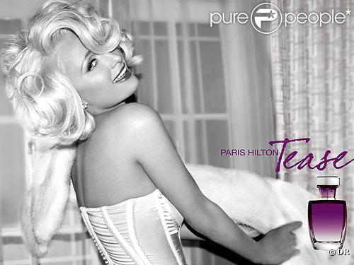 Paris Hilton pour son pafum Tease