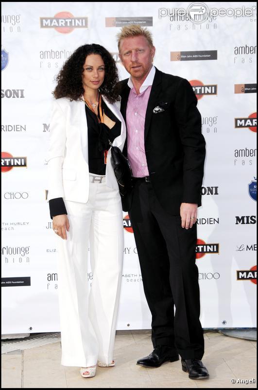 Boris Becker et son épouse Lilly à la soirée Amber Lounge de Monaco le 14 mai 2010