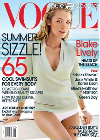 Blake Lively en couverture du Vogue US du mois de juin 2010