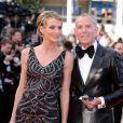 Jean-Claude Jitrois et la belle Sarah Marshall à Cannes, en mai 2010.