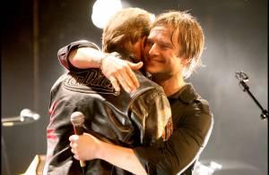 PHOTOS : Johnny et David Hallyday ensemble sur scène à La Cigale...