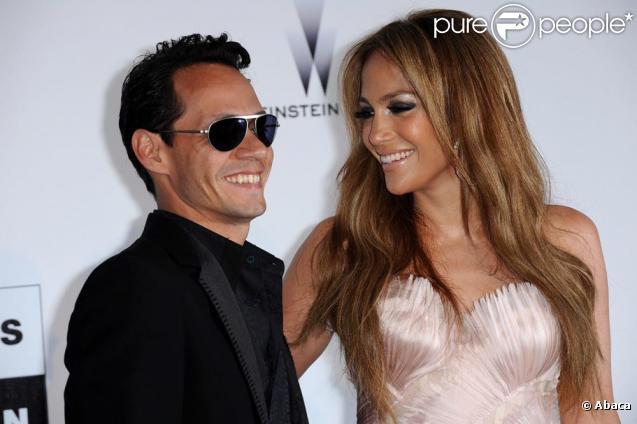 Jennifer Lopez et Marc Anthony au gala de l'amfAR le 20 mai 2010 à Antibes