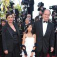 Pierre Lescure, sa femme Frédérique et sa fille Anna lors du dernier tapis rouge du 63e festival de Cannes le 23 mai 2010
