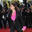 Emmanuelle Béart lors du dernier tapis rouge du 63e festival de Cannes le 23 mai 2010