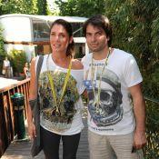 Roland-Garros 2010 : Frank Leboeuf en célibataire auprès du sexy Christophe Dominici et de Sébastien Folin... avec leurs dulcinées !