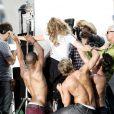 Kylie Minogue sur le tournage du clip  All the Lovers , à Los Angles, le 8 mai 2010 !