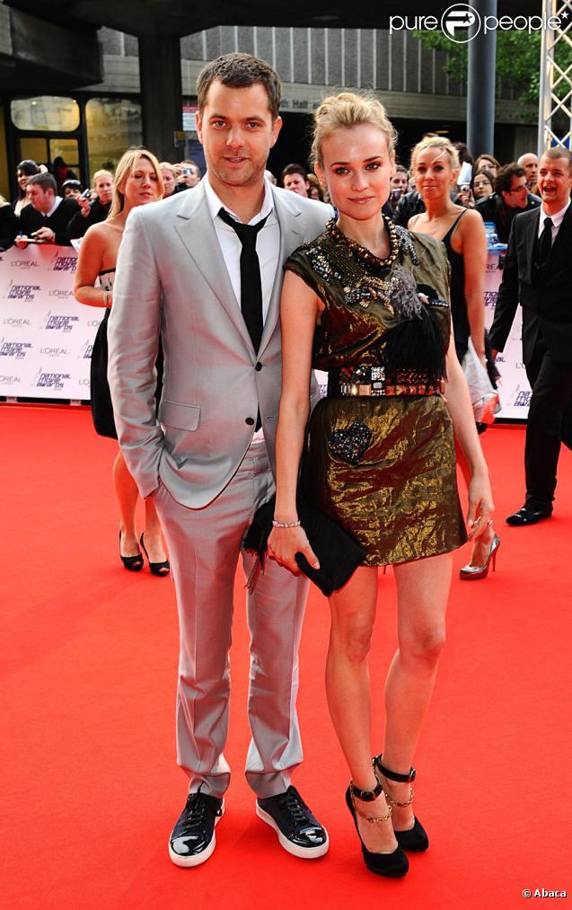 Joshua Jackson et Diane Kruger lors des National Movie Awards à Londres le 26 mai 2010