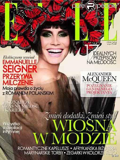 Heidi Klum en couverture de ELLE Pologne du mois d'avril 2010