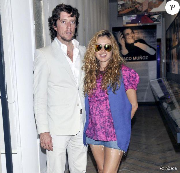 Paulina Rubio et son mari Nicolás Vallejo-Nágera à Madrid, le 1er juin 2010