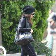 Fergie se rendant dans une salle de sport de la banlieue parisienne dans le 92, le 3 juin 2010