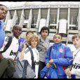 Rachida Dati à Madrid ou elle a emmené des enfants du 93 et du VIIe arrondissement rencontrer l'équipe du Real, avec Ronaldo et Benzema !