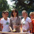 Tournoi des personnalités, vendredi 4 juin 2010 : Clémence Castel et Anne-Laure Sibon