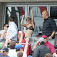 Lady Gaga assiste à un match de baseball à New York le 10 juin