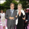 Nonce Paolini et sa femme Catherine Falgayrac à la soirée Lancel organisée pour le lancement du BB Bag, le 14 juin 2010