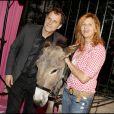Charles Berling et Virginie Couperie à la soirée Lancel organisée pour le lancement du BB Bag, le 14 juin 2010
