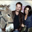 Davy Sardou et sa douce Noémie Elbaz à la soirée Lancel organisée pour le lancement du BB Bag, le 14 juin 2010
