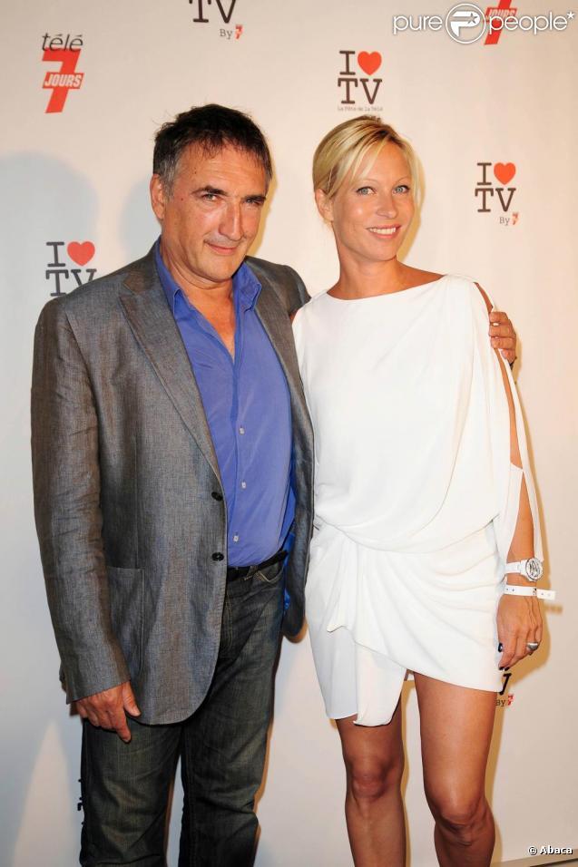 Alexandre Fabres et Rebecca Hampton à la Fête de la Télévision, organisée au Showcase. 15/06/2010