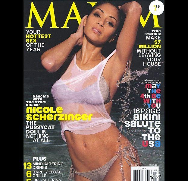 Nicole Scherzinger en couverture de Maxim