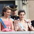 Letizia d'Espagne lors du mariage de Victoria de Suède le 19 juin 2010