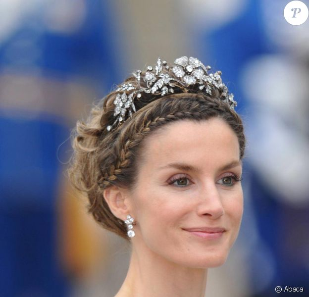 Letizia d'Espagne lors du mariage de la princesse Victoria de Suède le 19 juin 2010