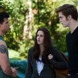 Taylor Lautner, Kristen Stewart et Robert Pattinson dans  Twilight Hésitation .