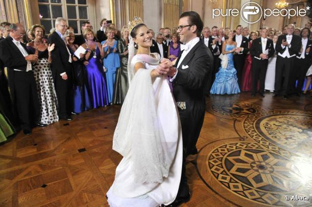 Mariage de Victoria de Suède, le 19 juin 2010 : photos officielles au cours du banquet nuptial donné en soirée au Hall of State du palais royal de Stockholm.