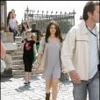Selena Gomez sur le tournage de la comédie américaine  Monte Carlo , à Paris, le 23 juin 2010.