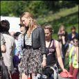 Katie Cassidy sur le tournage de la comédie américaine  Monte Carlo , à Paris, le 23 juin 2010.