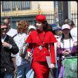 Valérie Lemercier sur le tournage de la comédie américaine  Monte Carlo , à Paris, le 23 juin 2010.