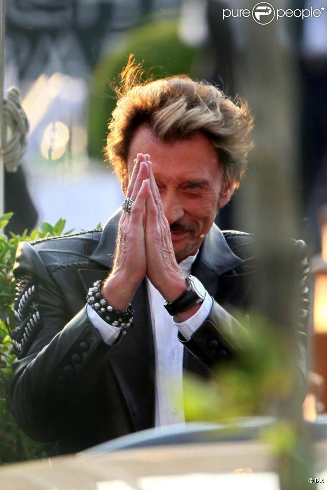 Johnny Hallyday à son 67e anniversaire, à Paris