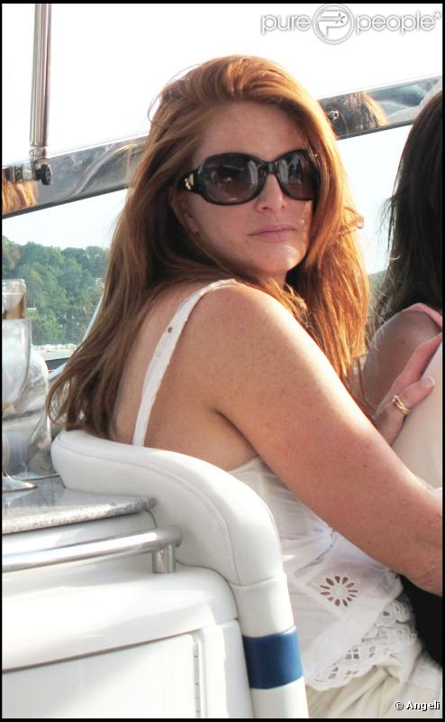 Angie Everhart en compagnie de son amie Jennifer. Sag Harbor, juillet 2010