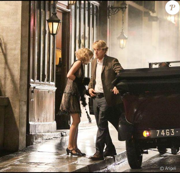 Owen Wilson sur le tournage de Minuit à Paris, de Woody Allen, à Paris, le 12 juillet 2010.