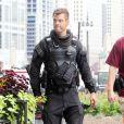"""""""Josh Duhamel, à l'occasion du tournage de  Transformers 3 , de Michael Bay, à Chicago, le 19 juillet 2010."""""""