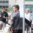 """""""Shia LaBeouf, à l'occasion du tournage de  Transformers 3 , de Michael Bay, à Chicago, le 19 juillet 2010."""""""