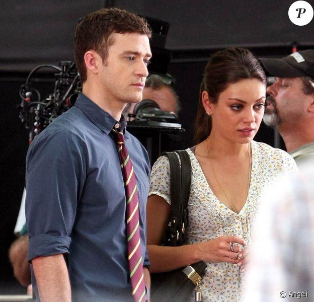 Justin Timberlake et Mila Kunis sur le tournage de Friends with Benefits, à New York, le 20 juillet 2010.