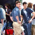 Justin Timberlake et Mila Kunis sur le tournage de  Friends with Benefits , à New York, le 20 juillet 2010.
