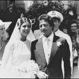 Caroline de Monaco et Philippe Junot le jour de leur mariage, le 29 juin 1978