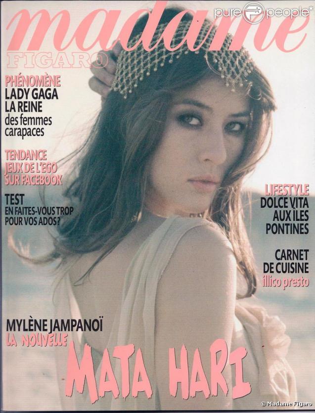 Mylène Jampanoï en couverture de Madame Figaro