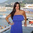 La belle Sofia Vergara sur l'île d'Ischia, en juillet 2010.