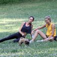 Jessica Hart et  Nicole Trufino à New york le 8 juillet