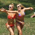 Jessica Hart et sa soeur Ashley Hart sur New York le 17 juillet